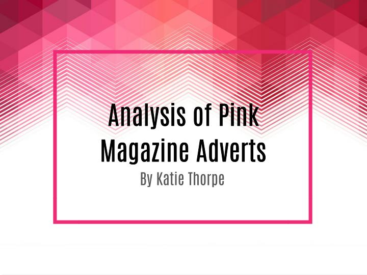 Analysis of Pink