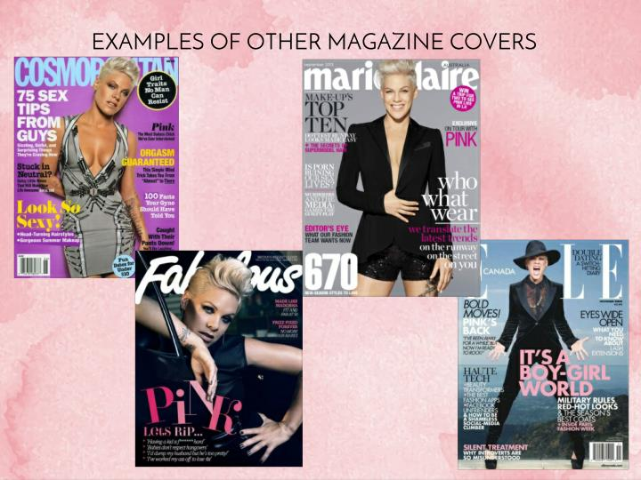 EXAMPLES OF OTHER MAGAZINE COVERS