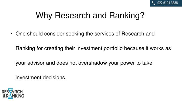 Why Research and Ranking?