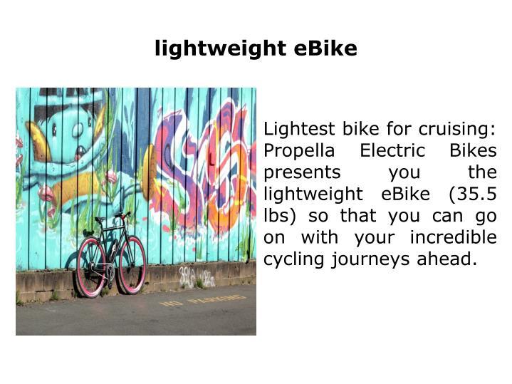 lightweight eBike