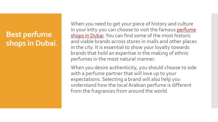 Best perfume shops in dubai