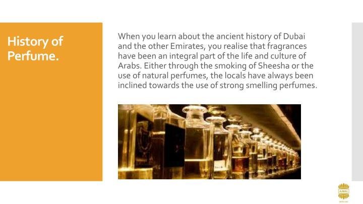 History of perfume
