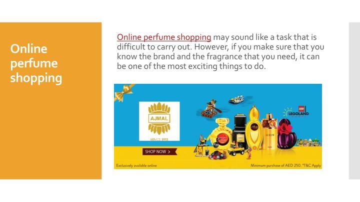 Online perfume shopping