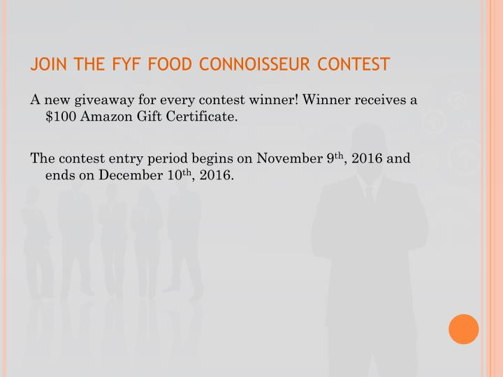 Join the fyf food connoisseur contest