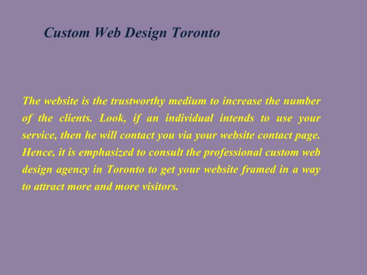 Custom Web Design Toronto