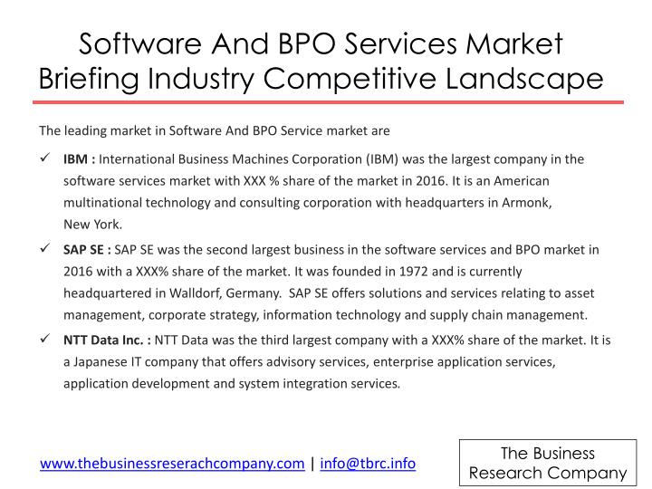 Software And BPO Services Market