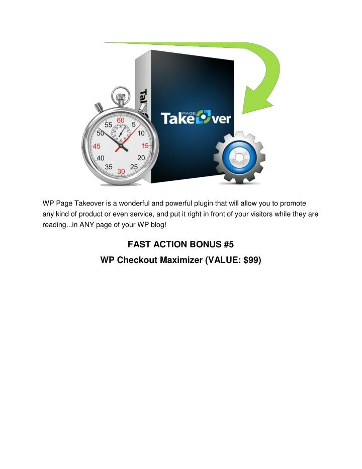 WP Page Takeover is a wonderful and powerful plugin that will allow you to promote