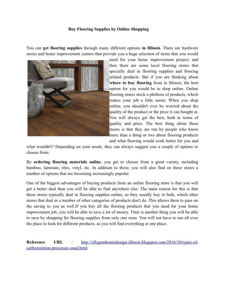 Buy Flooring Supplies by Online Shopping