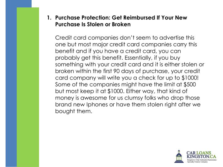 Purchase Protection: Get Reimbursed If Your New Purchase Is Stolen or Broken