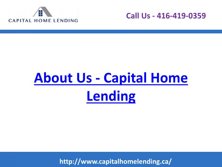 About us capital home lending