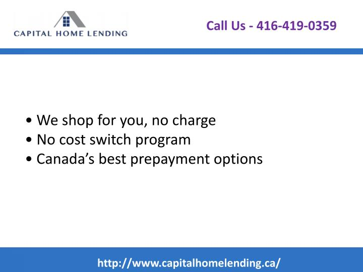 We shop for you no charge no cost switch program canada s best prepayment options