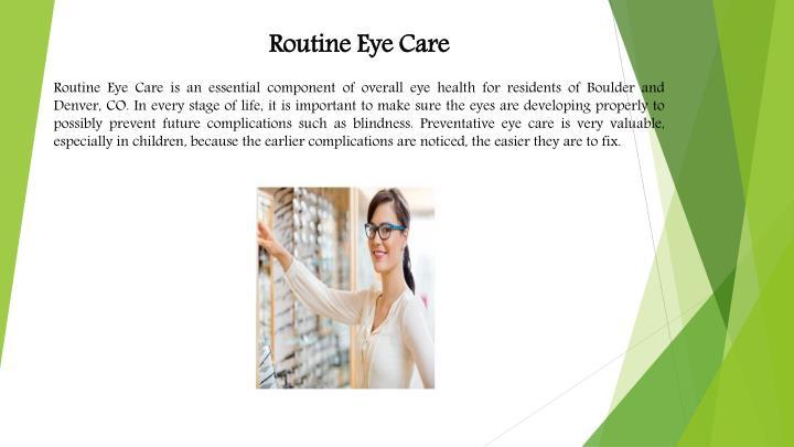 Routine Eye Care
