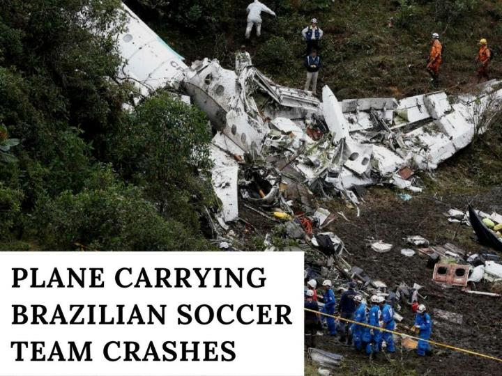 plane conveying brazilian soccer group crashes n.