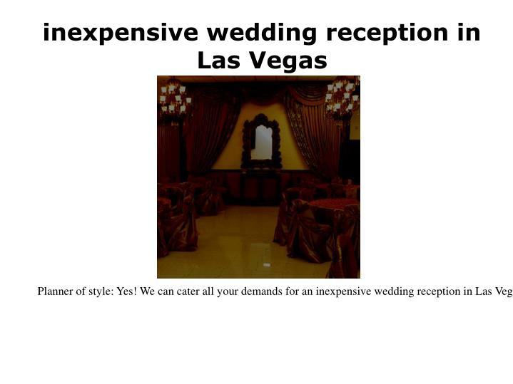 Inexpensive wedding reception in las vegas