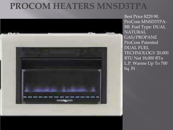 PROCOM HEATERS MNSD3TPA