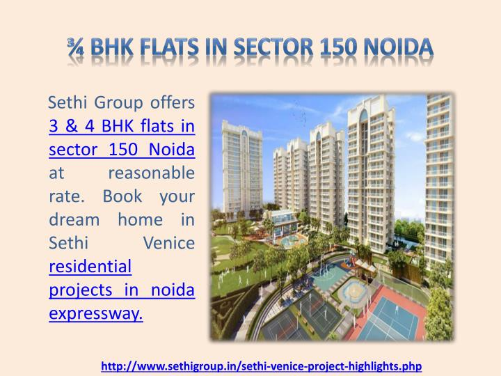 ¾ BHK Flats in Sector 150