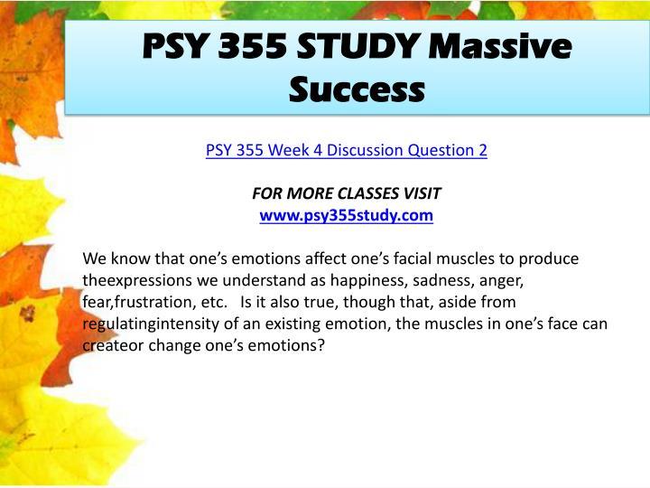 PSY 355 STUDY Massive Success