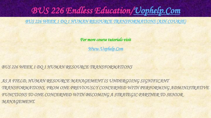 Bus 226 endless education uophelp com2