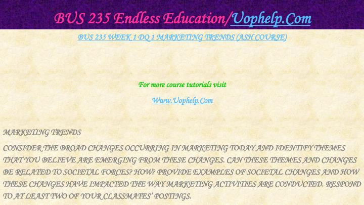 Bus 235 endless education uophelp com2