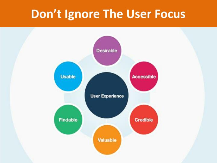 Don t ignore the user focus