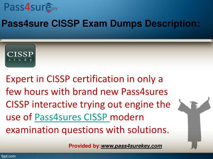 Pass4sure cissp exam dumps description