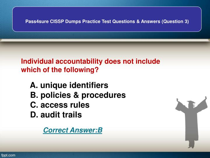 Individual accountability does not include     which of the following?