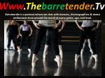 www the barre tender tv4