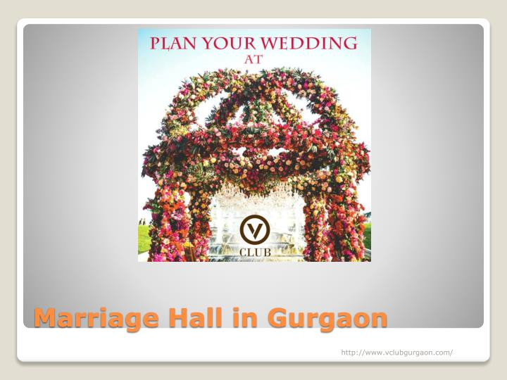 Marriage Hall in Gurgaon