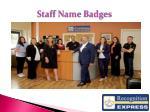 staff name badges