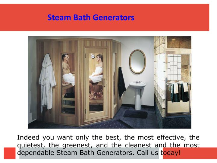 Steam Bath Generators