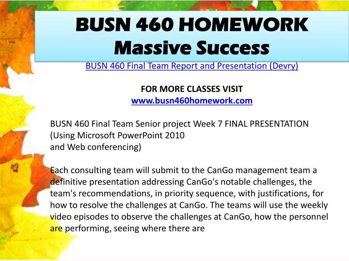 busn460 team contract Busn 460 entire course (devry) for more course tutorials visit wwwbusn460helpcom busn460 senior project -all 7 weeks discussions busn 460 week 1 team contract.