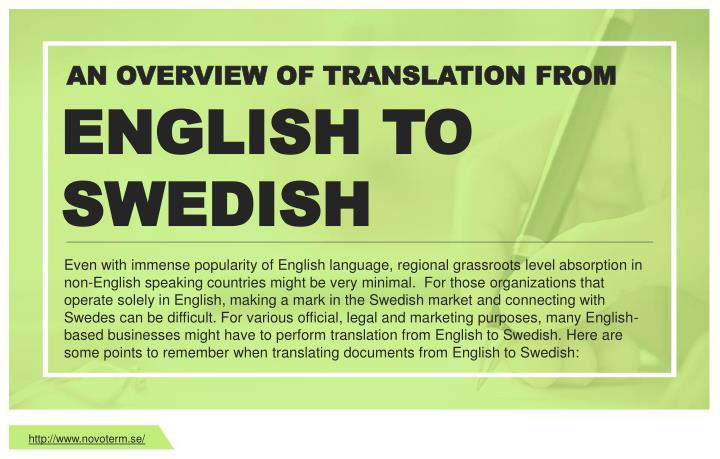 AN OVERVIEW OF TRANSLATION FROM