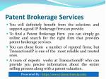patent brokerage services