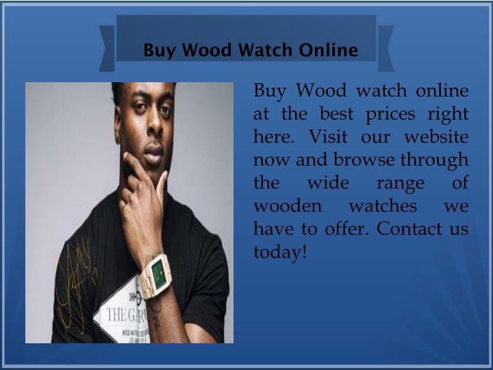 Buy Wood Watch Online