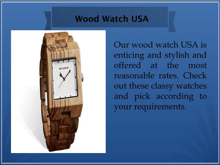 Wood Watch USA