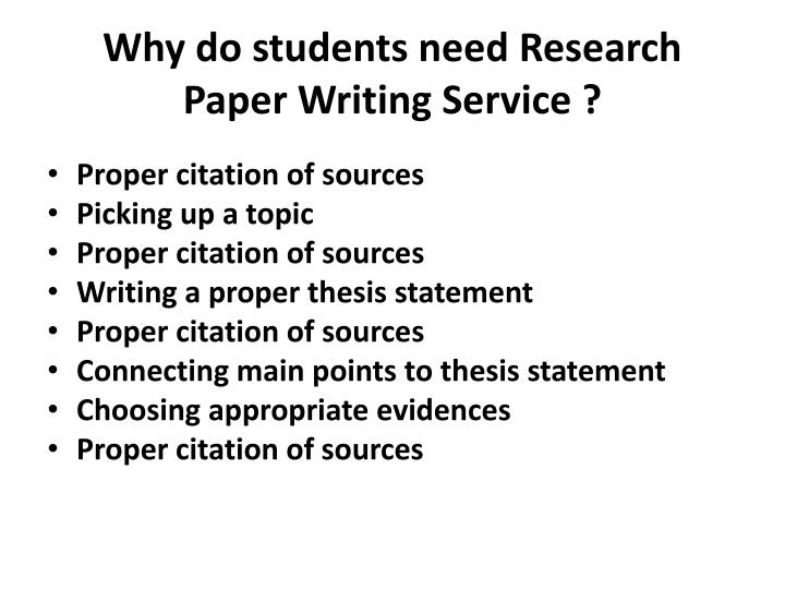 Why do students need research paper writing service
