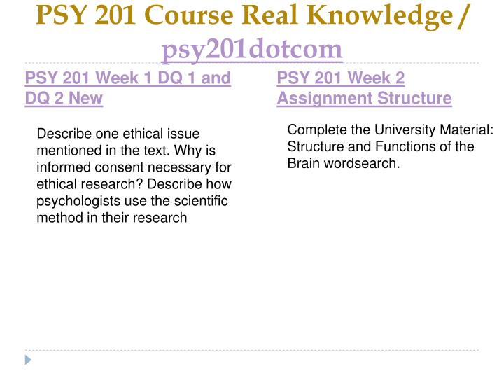 Psy 201 course real knowledge psy201dotcom2