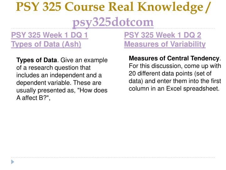 Psy 325 course real knowledge psy325dotcom2