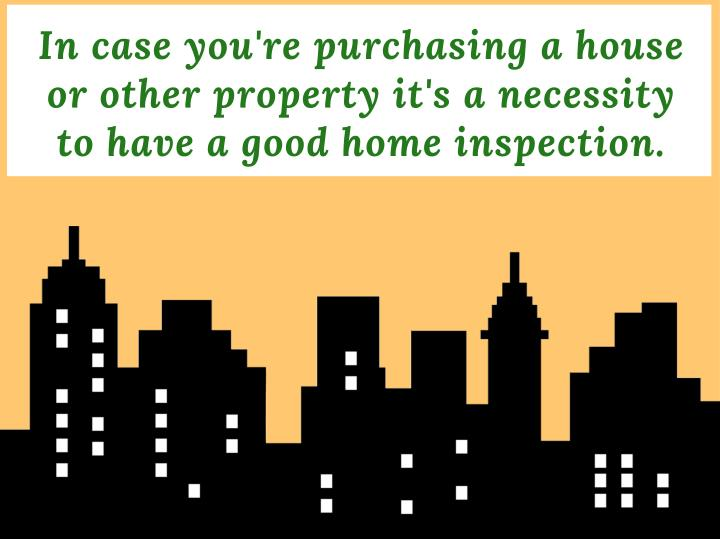 In case you're purchasing a house