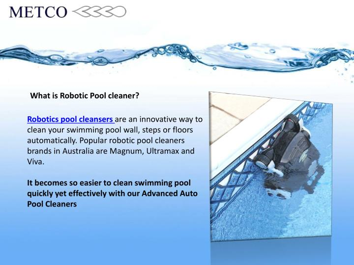 What is Robotic Pool cleaner?