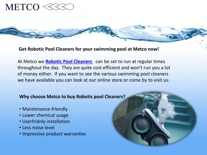 Get Robotic Pool Cleaners for your swimming pool at