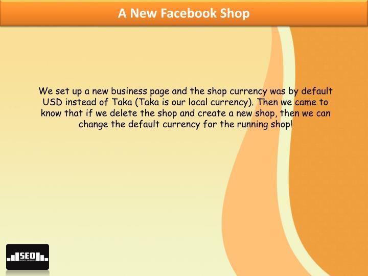 A New Facebook Shop