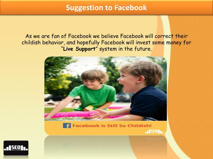 Suggestion to Facebook