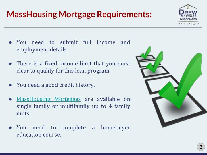 MassHousing Mortgage Requirements: