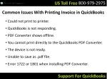 common issues with printing invoice in quickbooks