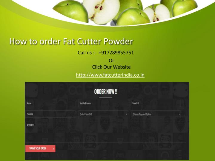 How to order Fat Cutter Powder