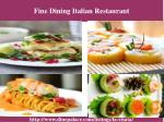 fine dining italian restaurant