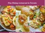 fine dining restaurant in toronto