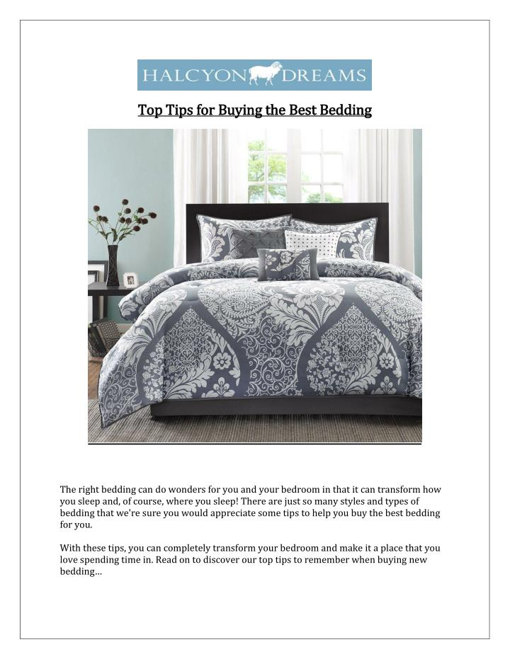 Top Tips for Buying the Best Bedding