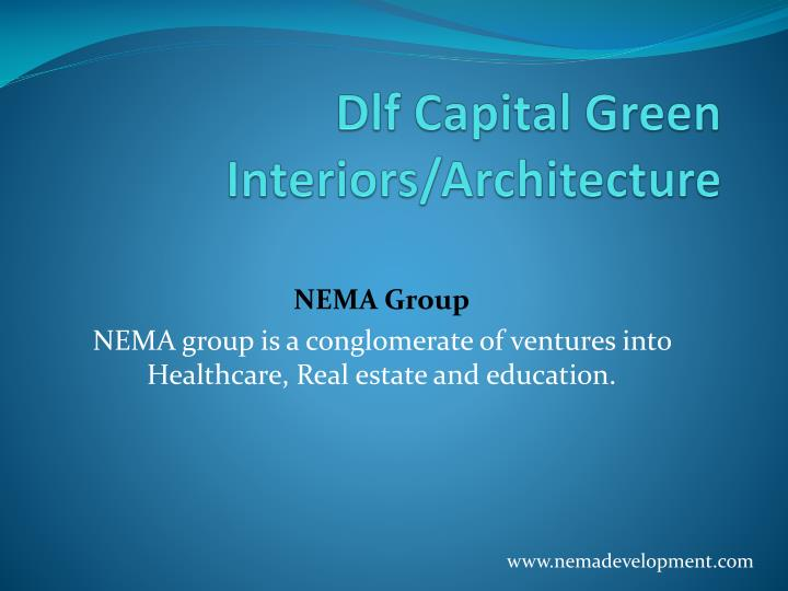 dlf capital green interiors architecture n.